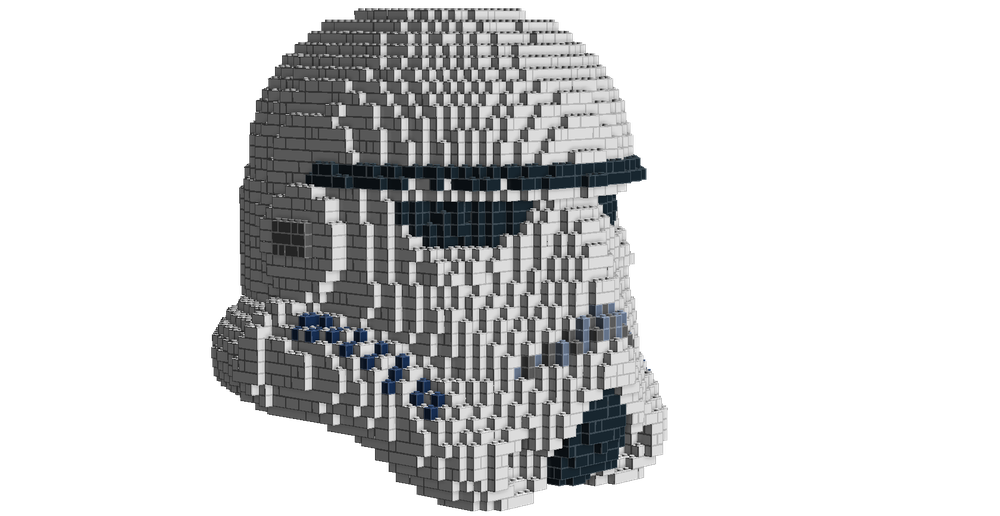 LEGO MOC-15692 UCS Stormtrooper helmet (Star Wars > Ultimate