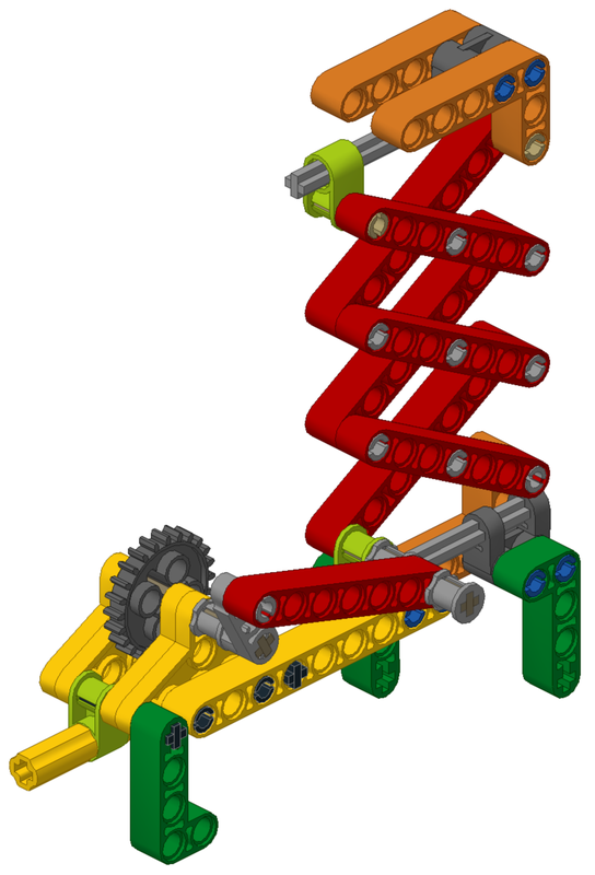 LEGO MOC-17039 Power Transmission Module - Scissor Lift with Worm