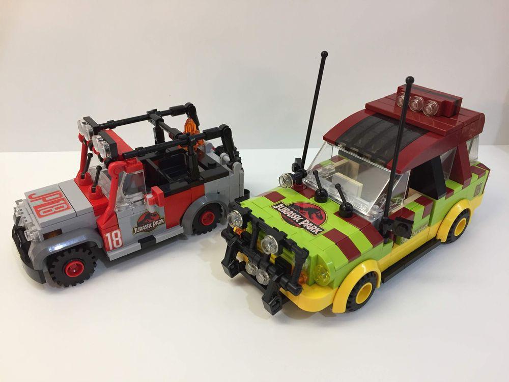 LEGO MOC-18106 Jurassic Park Cars - Jeep Wrangler & Ford