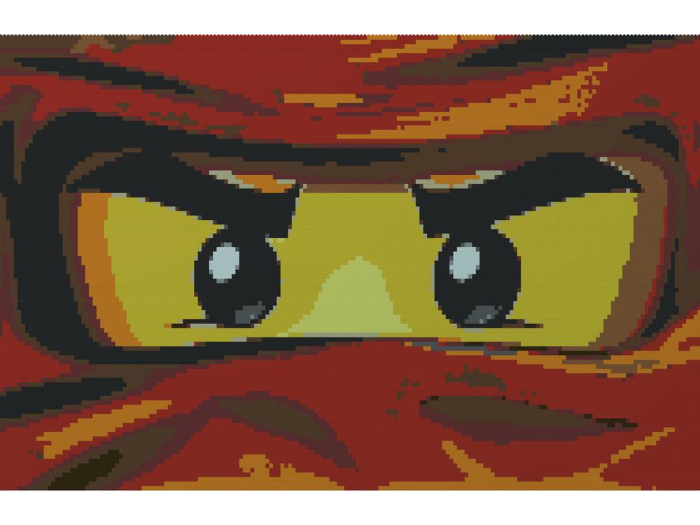Lego Moc 18177 Kai Pixelart Logo Ninjago 2018