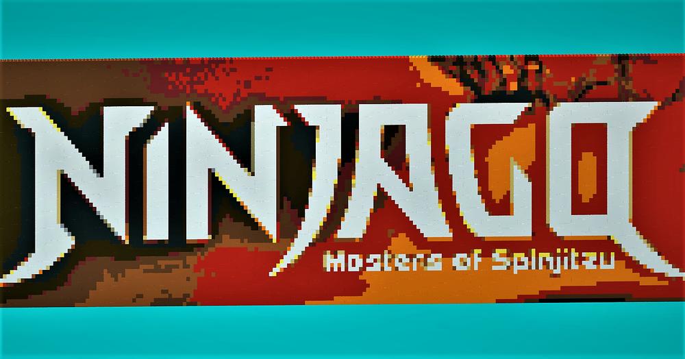 Lego Moc 18183 Ninja Pixelart Logotype Ninjago 2018