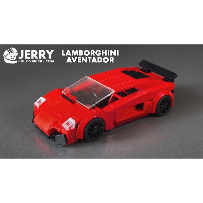 LEGO MOC,18883 Lamborghini Aventador (Speed Champions 2018
