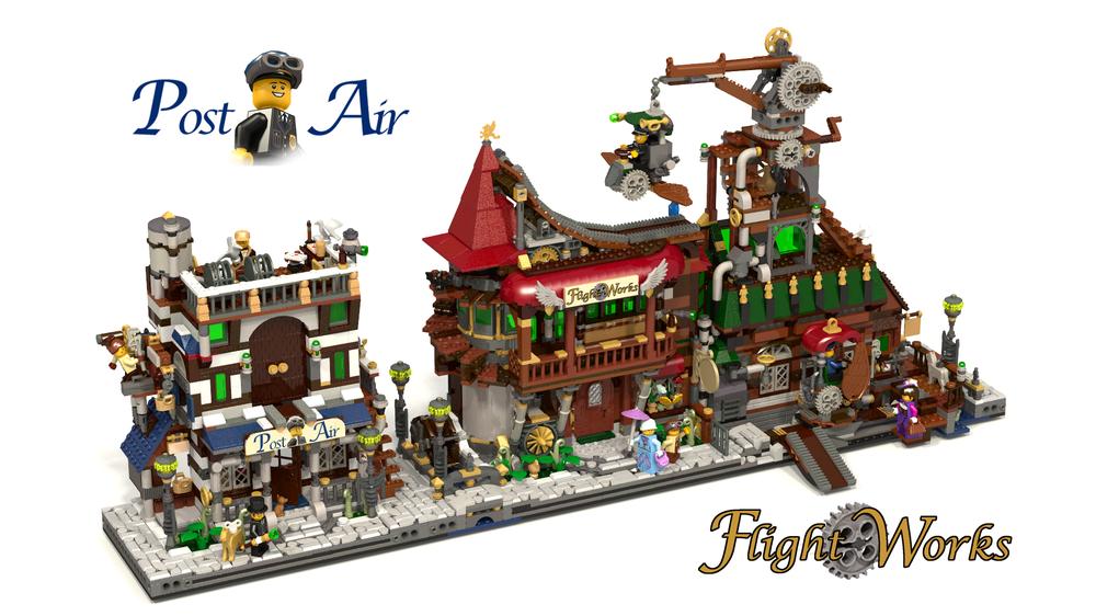 LEGO MOC-19002 Flight Works + Post Air (LEGO Ideas and CUUSOO 2018