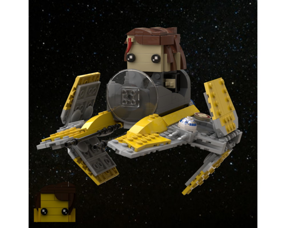 Lego Moc Anakin S Eta 3 Starfighter Brickheadz By Grievous Bricks Rebrickable Build With Lego