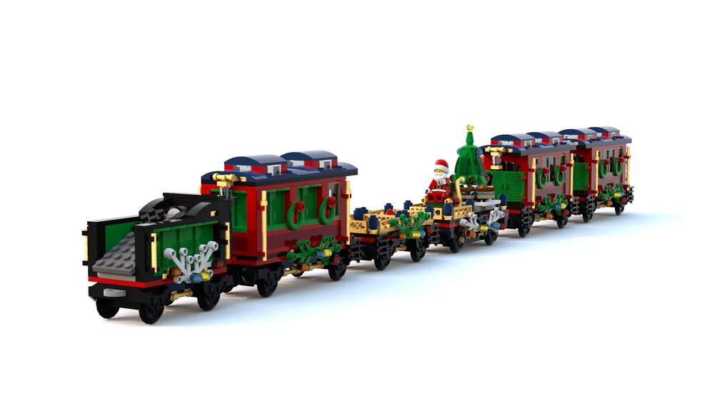 LEGO MOC-19449 My revisited 10254-1 Winter Holiday Train