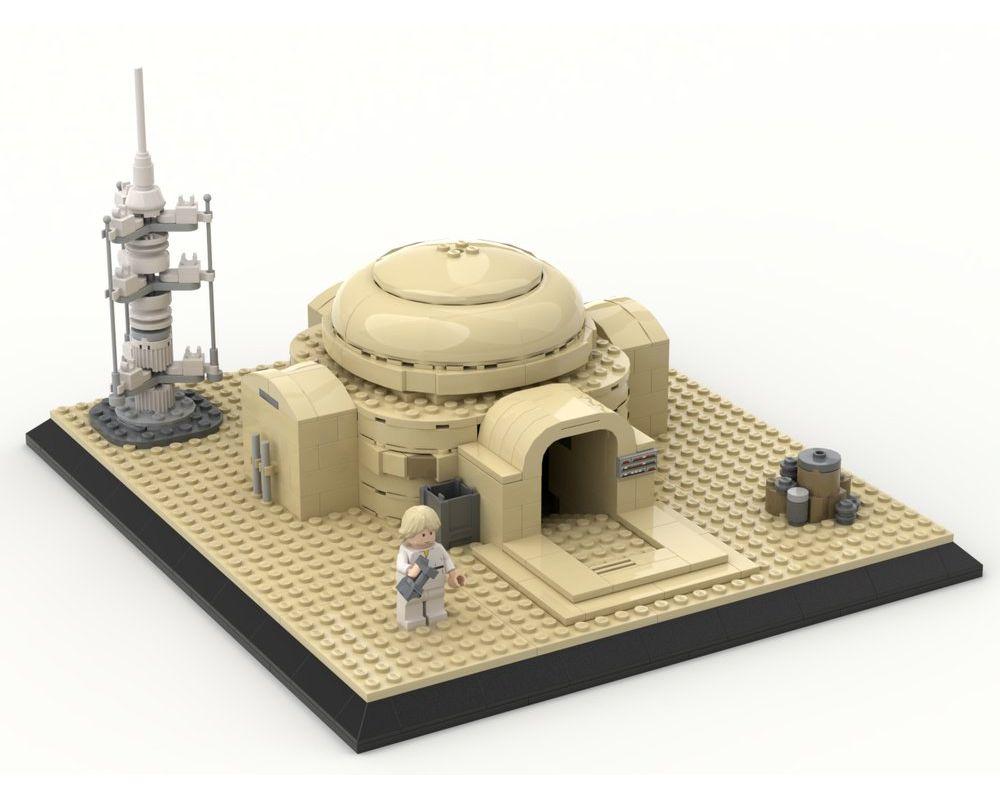 Lego Moc Luke S Home On Tatooine Lars Homestead By Empirebricks Rebrickable Build With Lego