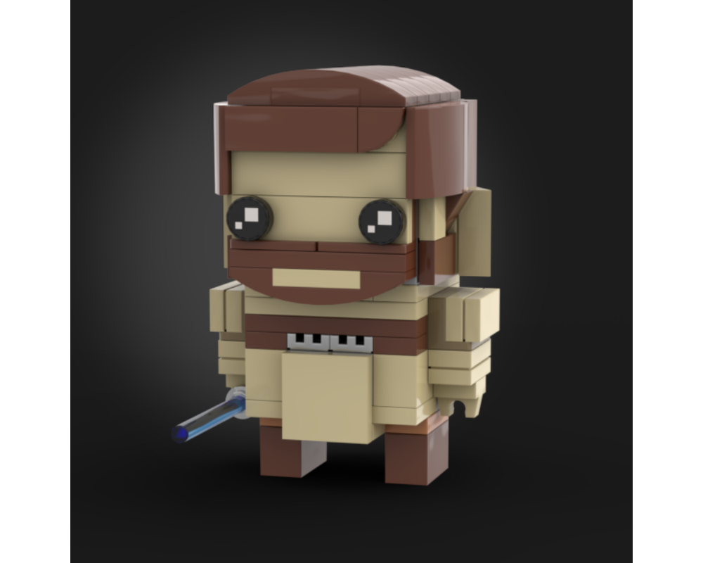 Lego Moc General Kenobi Episode Iii Brickheadz By Grievous Bricks Rebrickable Build With Lego
