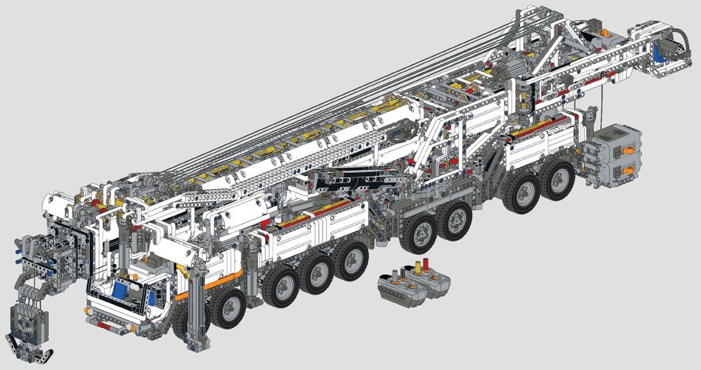 LEGO MOC-20920 RC Liebherr LTM11200 (Technic 2019