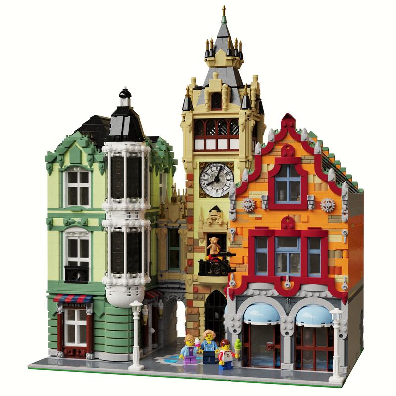 LEGO MOC-21266 Modular Clock Tower Square (Modular Buildings 2019