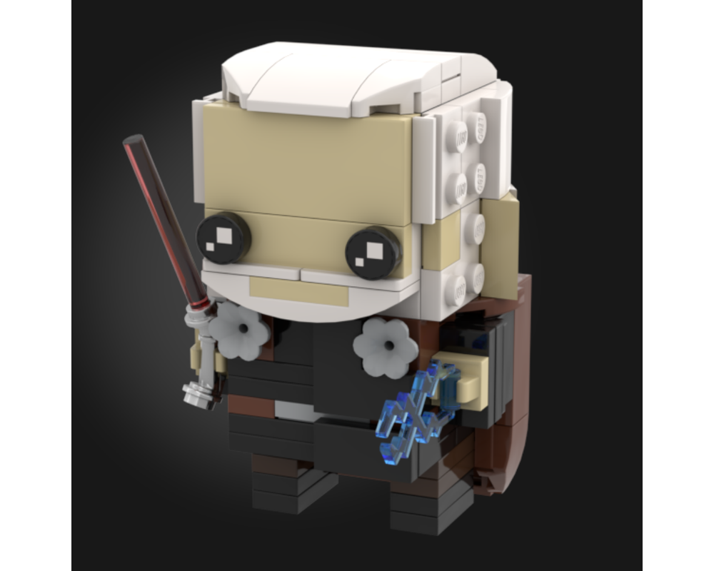 Lego Moc Count Dooku Attack Of The Clones Brickheadz By Grievous Bricks Rebrickable Build With Lego