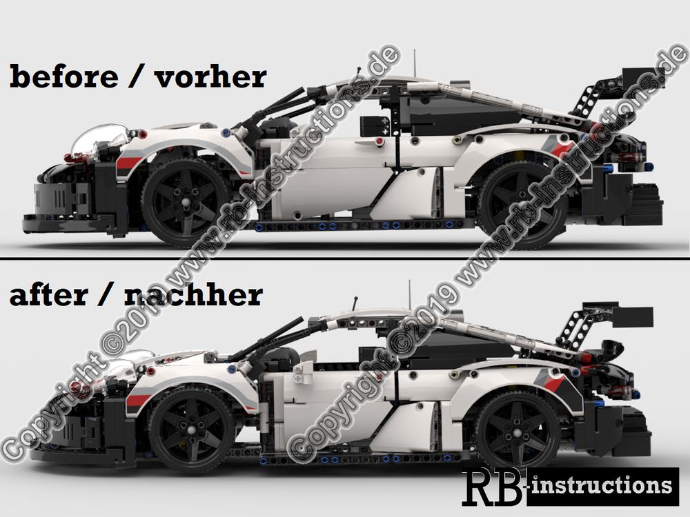 lego moc 21406 porsche 911 rsr lowered tiefergelegt technic 2019 rebrickable build with lego. Black Bedroom Furniture Sets. Home Design Ideas