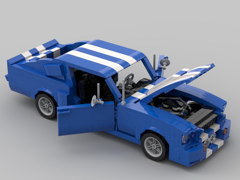 LEGO MOC-21758 67 Shelby GT500 Blue/White (Creator > Creator