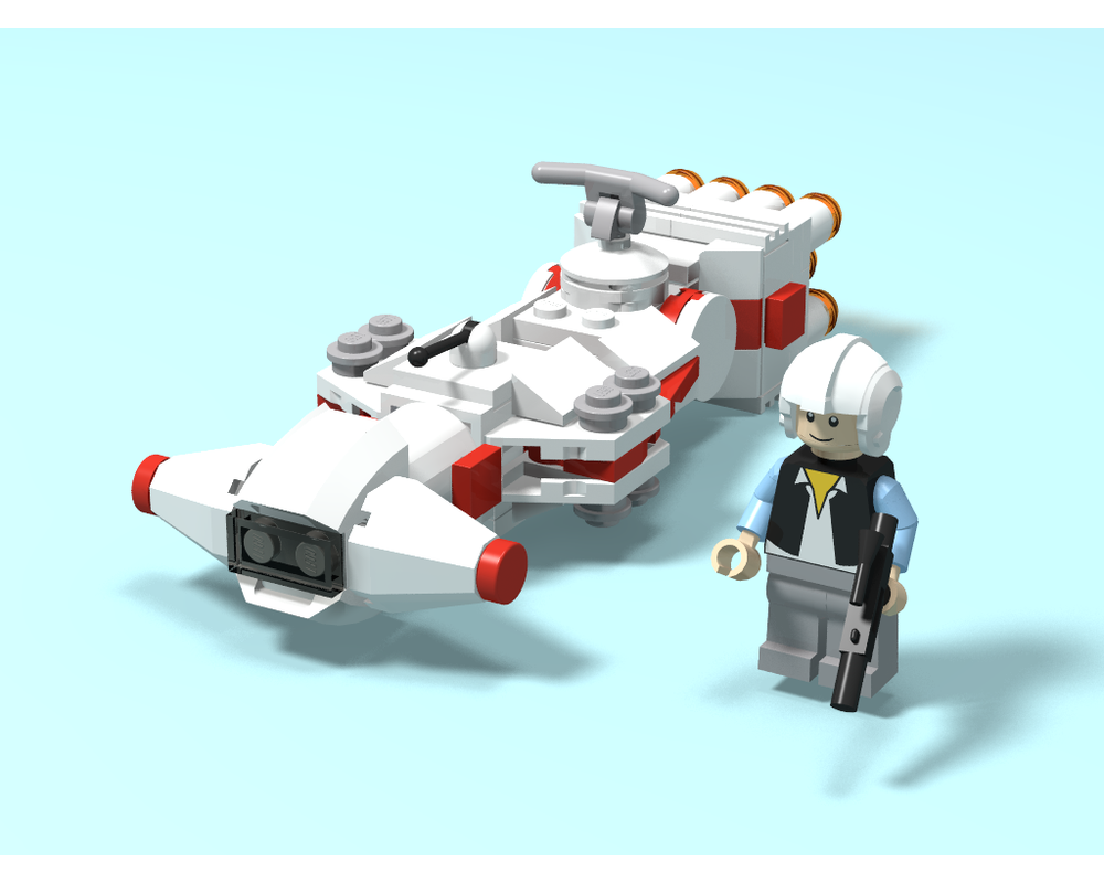 Lego Moc Microfighter Tantive Iv By Bensbrickdesigns Rebrickable Build With Lego