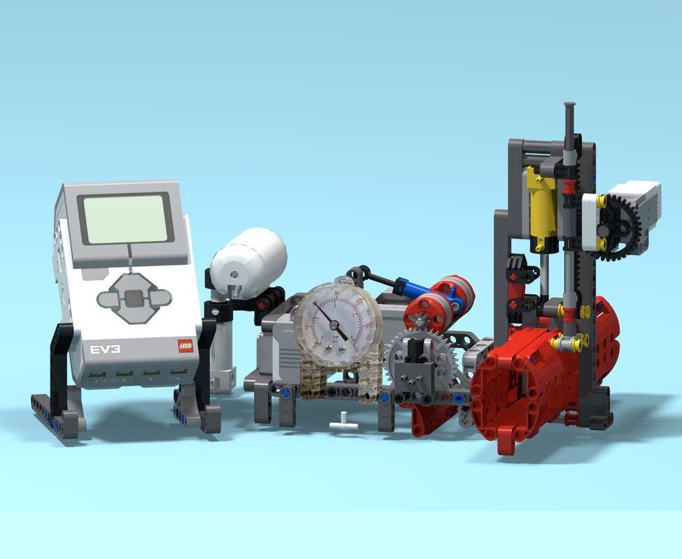 LEGO MOC-21981 EV3 Intelligent Valve Positioner (Mindstorms > EV3