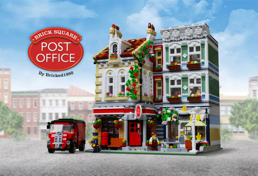LEGO MOC-22101 Brick Square Post Office (Modular Buildings