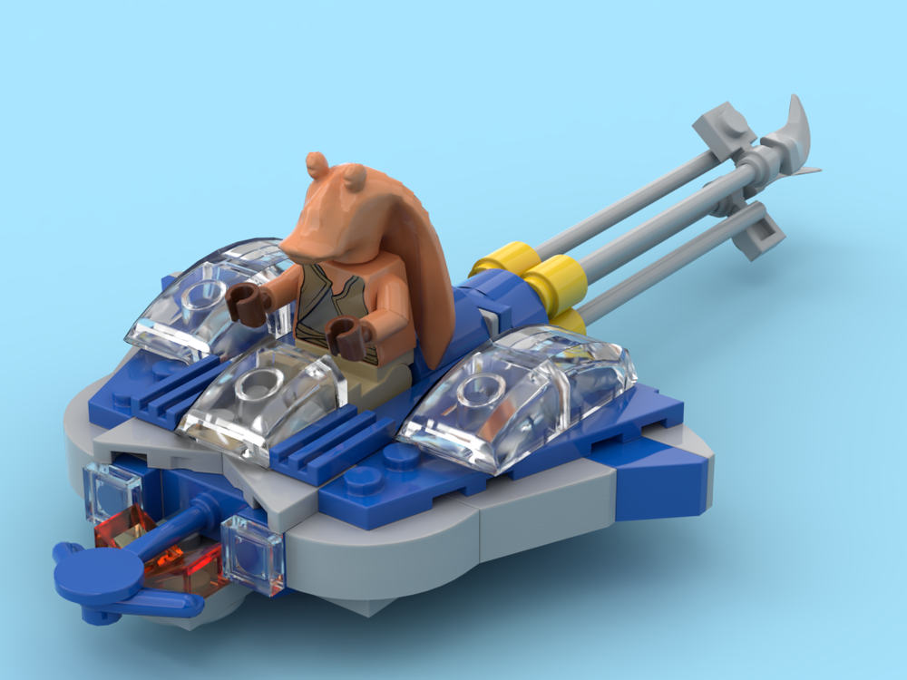 Lego Moc 22465 Microfighter Gungan Bongo Star Wars Mini