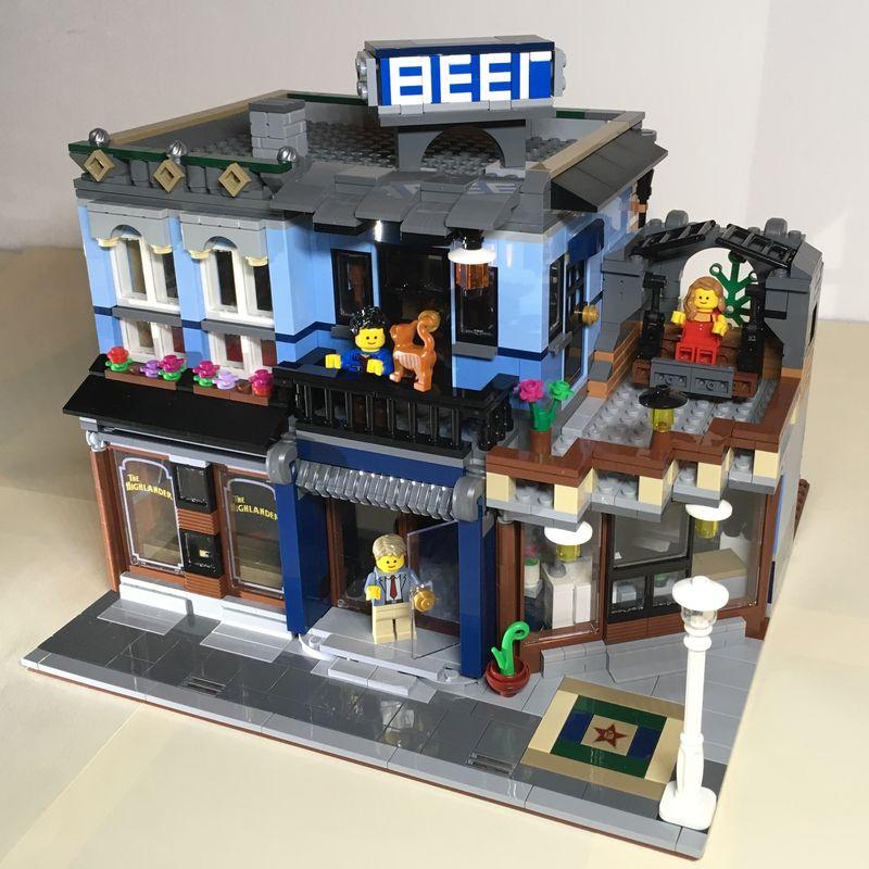 LEGO MOC-22509 10246 - The Highlander Bar - alternat Building for