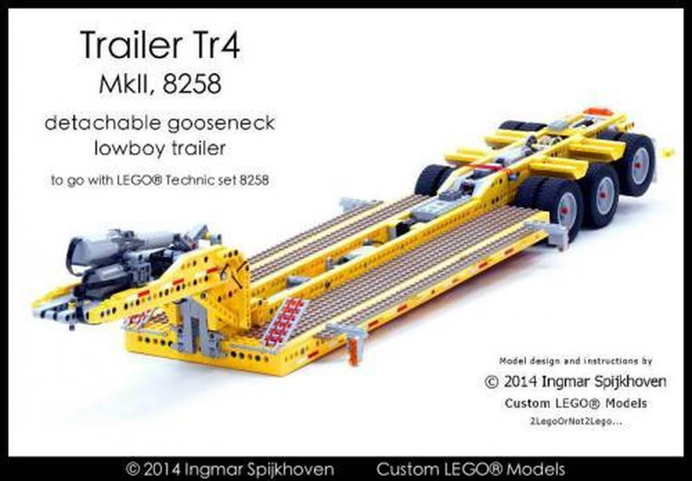 LEGO MOC-2273 Trailer Tr4 MkII 8258 (Technic 2014