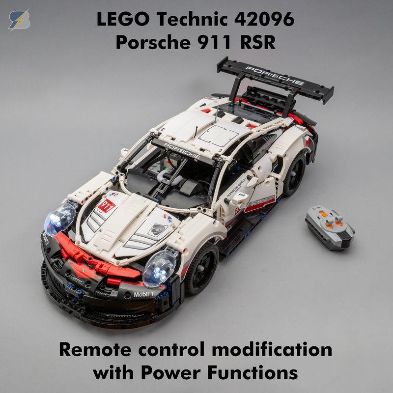 LEGO MOC-23683 Technic 42096 Porsche 911 RSR RC mod with Power