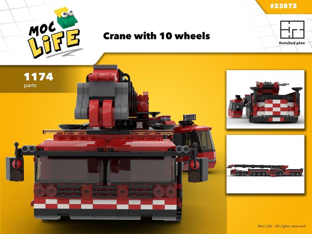 LEGO MOC-23872 Liebherr Crane LTM 11200 (Town > City 2019