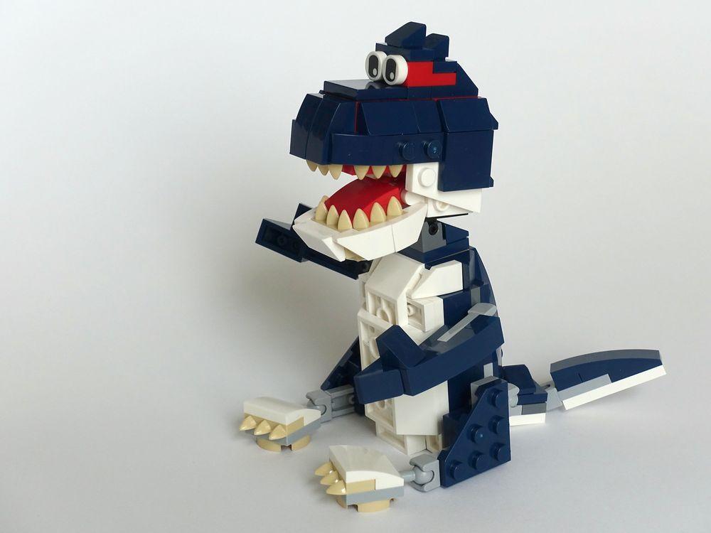 LEGO MOC-24146 31088: Blue Dragon (Creator > Model > Creature 2019