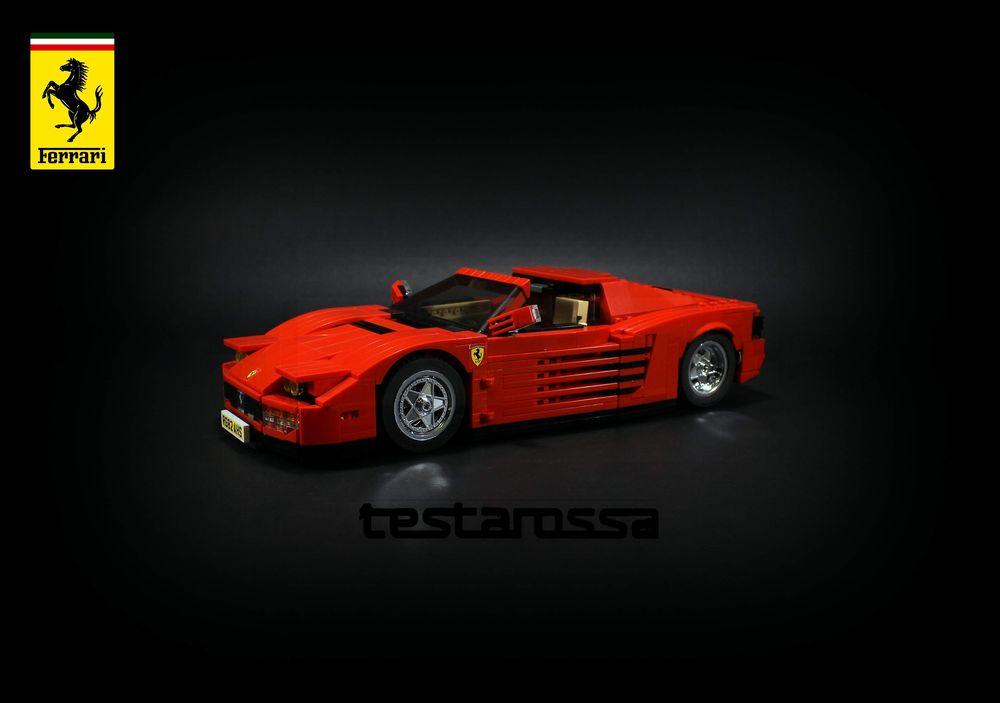 LEGO MOC-24335 Ferrari Testarossa, coupe, roadster, 2 in 1