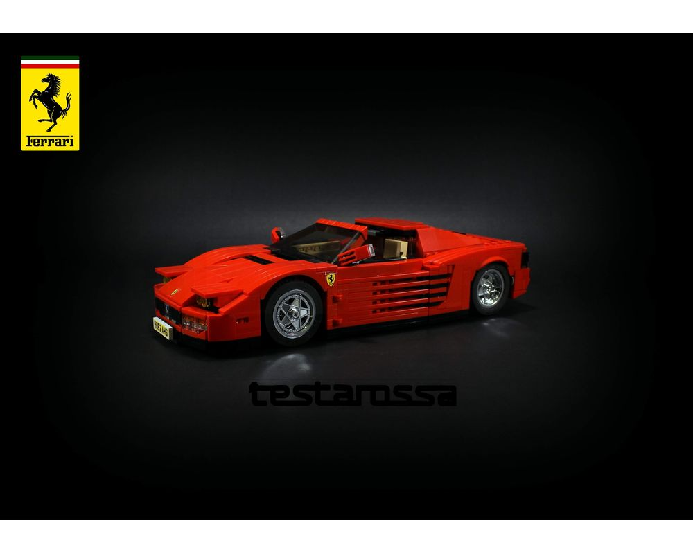 Lego Moc Ferrari Testarossa Coupe Roadster 2 In 1 Instructions By Firas Legocars Rebrickable Build With Lego