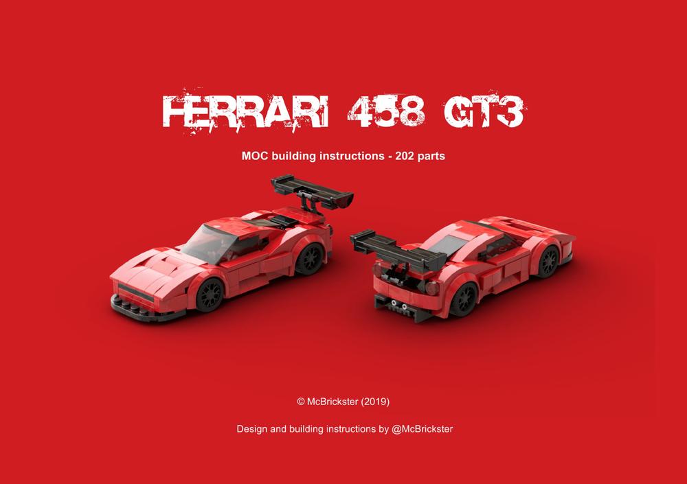 Lego Moc Moc Ferrari 458 Gt3 By Mcbrickster Rebrickable Build With Lego
