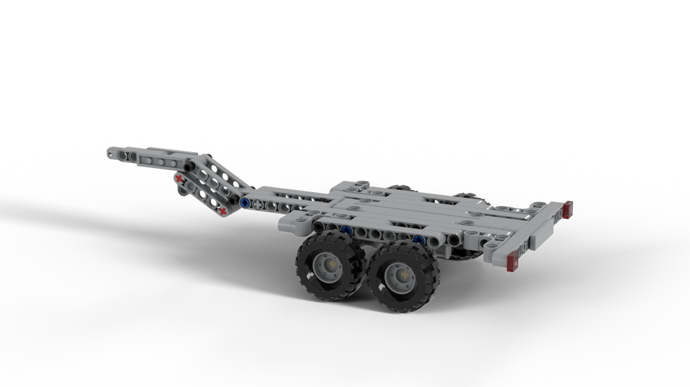 LEGO MOC-25523 Trailer for the Mercedes Actros Dump Truck