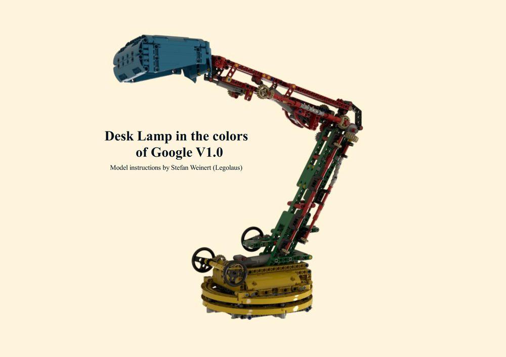 Lego Moc 25810 Desk Lamp In The Colors Of Google 5mm Led