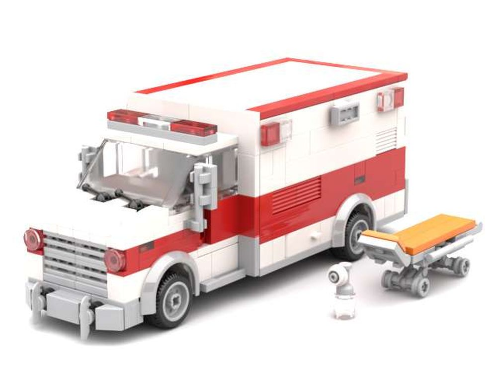 LEGO London Ambulance City EMT Medic Truck Custom MOC hospital