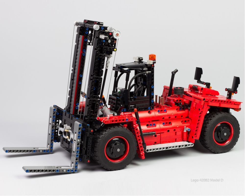 Technic moc 27807 42082 model d-heavy forklift truck by nico71 mocbrickland