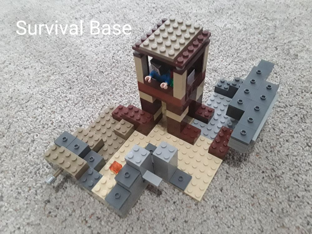 LEGO MOC-28292 Survival Base (Minecraft 2019) | Rebrickable