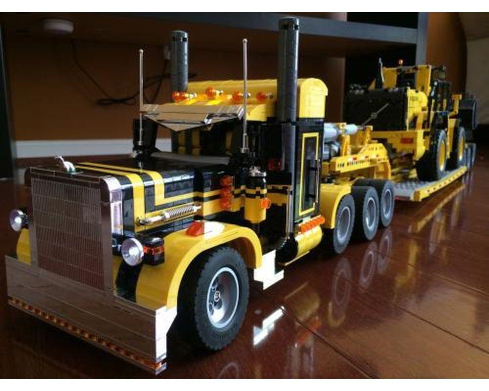 Technic moc-2980 peterbilt 379 semi truck 1:18 by motomatt mocbrickland