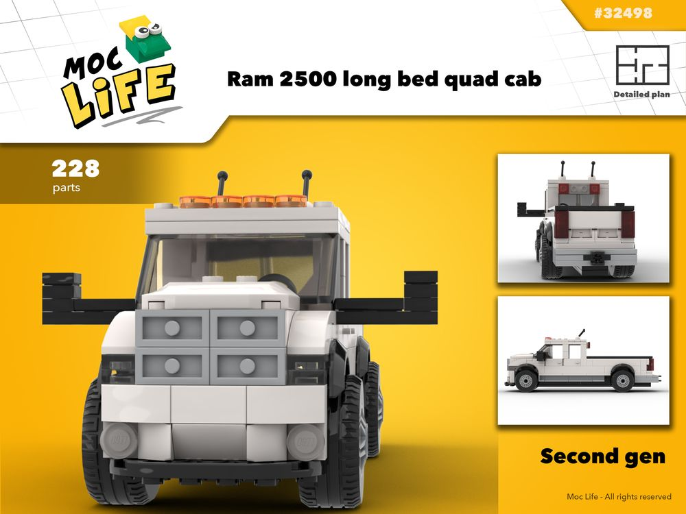 Lego Moc Chevrolet Silverado 1990 S By Moclego Rebrickable Build With Lego
