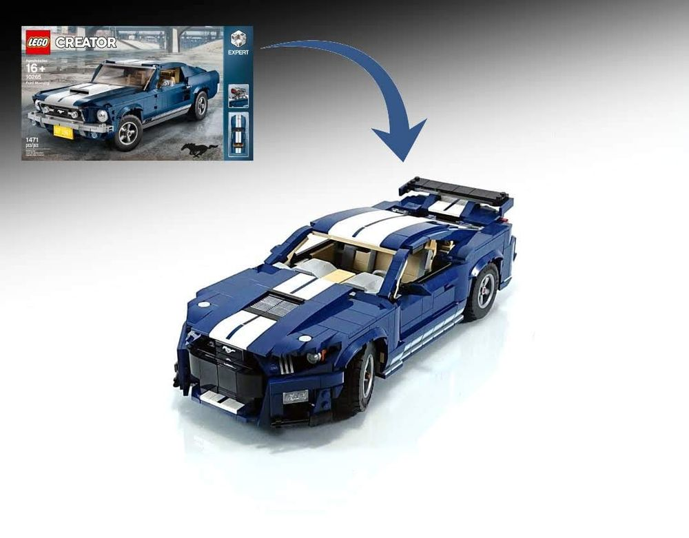 Lego Moc 10265 Mustang Shelby Gt500 B Model By Firas Legocars Rebrickable Build With Lego