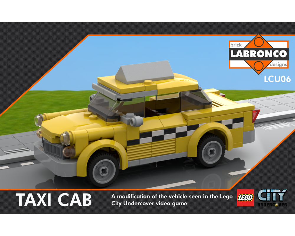 Lego Moc Lego City Undercover Taxi Cab By Labronco Brick Designs Rebrickable Build With Lego