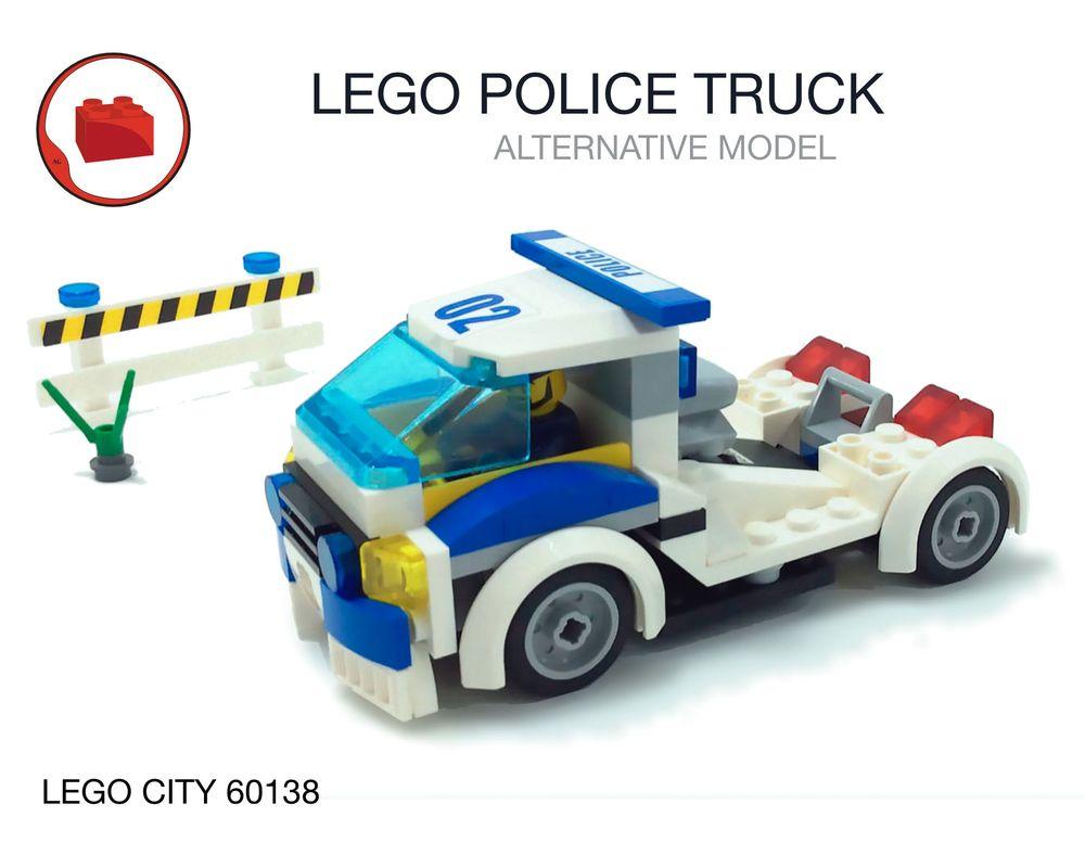 Lego Moc Lego City Police Racing Truck 60138 Set Alternative Build By Virks Rebrickable Build With Lego