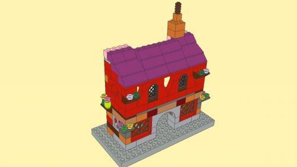 Lego Moc 3555 Medieval House System Gt Basic Set 2015