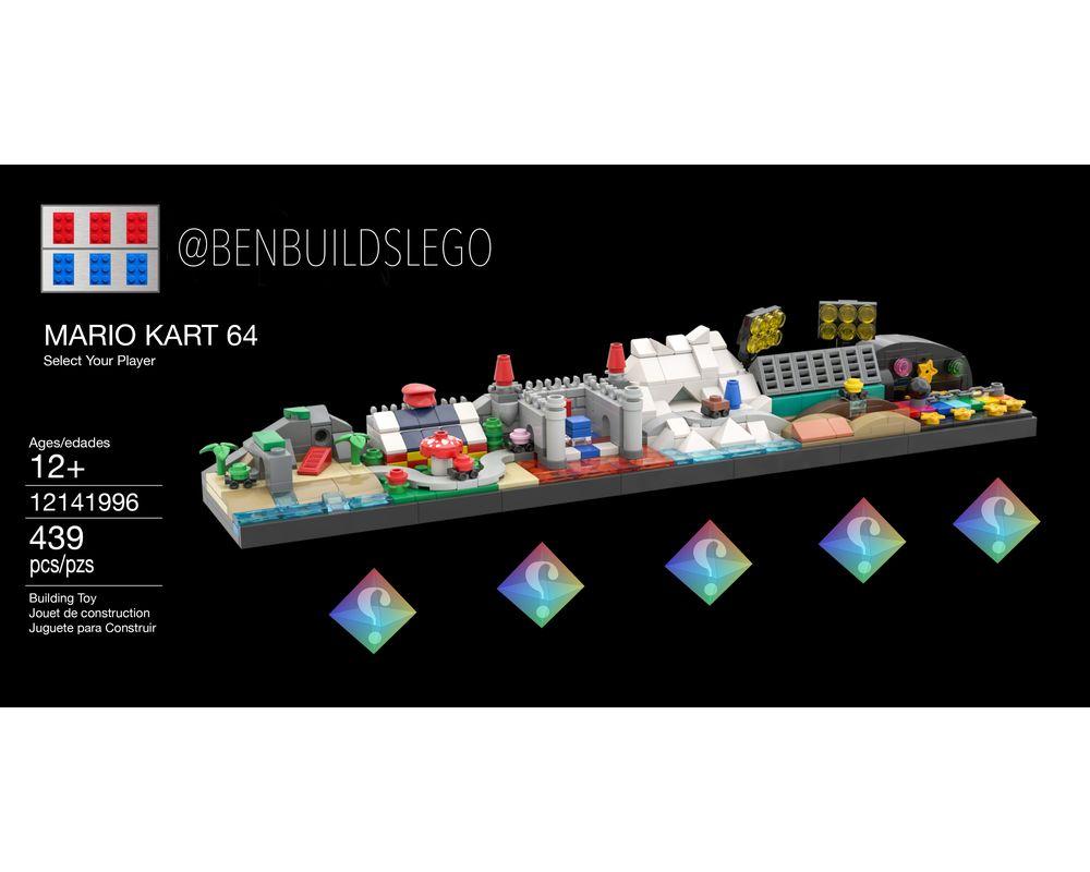 Lego Moc Mario Kart 64 Skyline By Benbuildslego Rebrickable Build With Lego