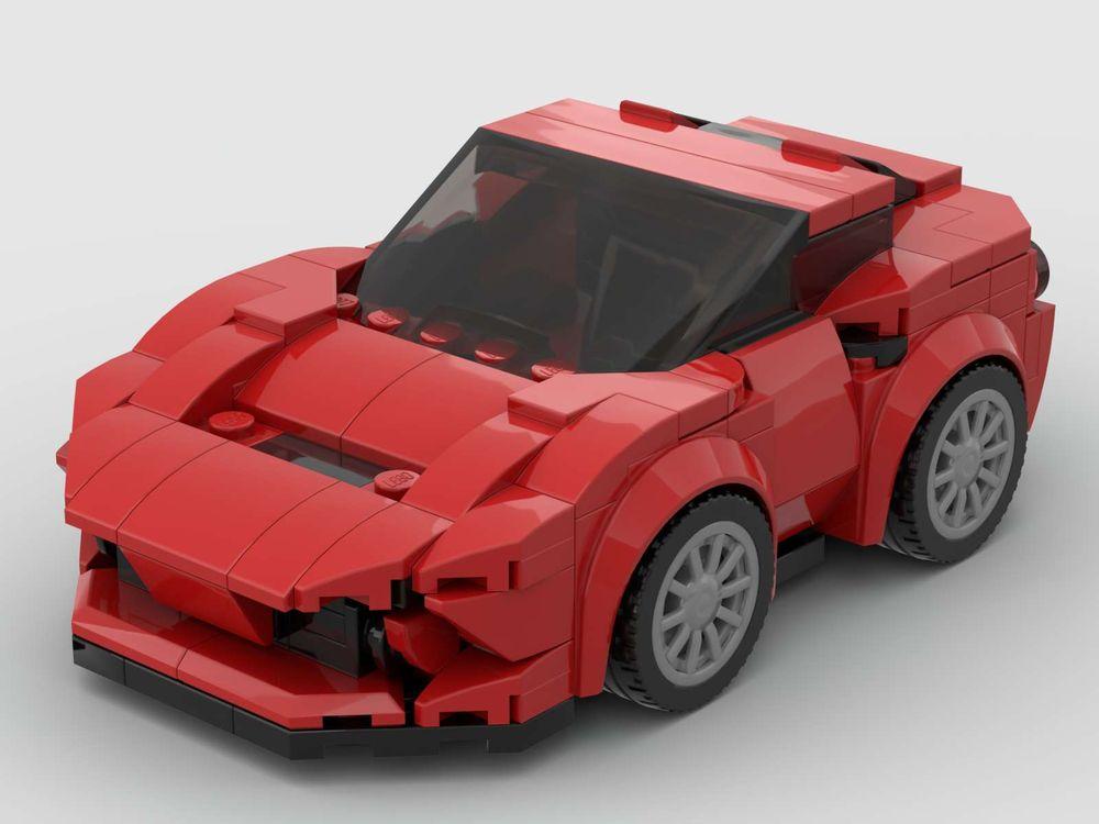 Lego Moc Chrono Q Ferrari F8 Tributo By Frozenkuku Rebrickable Build With Lego