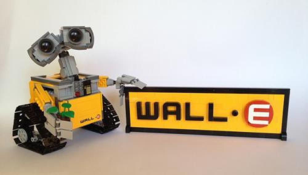 LEGO MOC-3831 WALL•E Logo Sign (LEGO Ideas and CUUSOO 2015