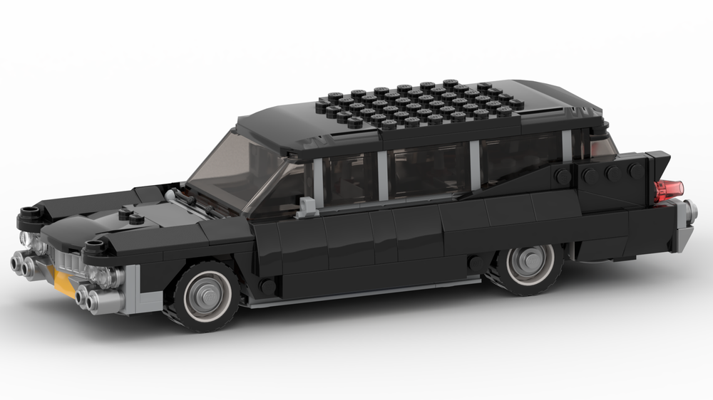 how to build a lego hearse
