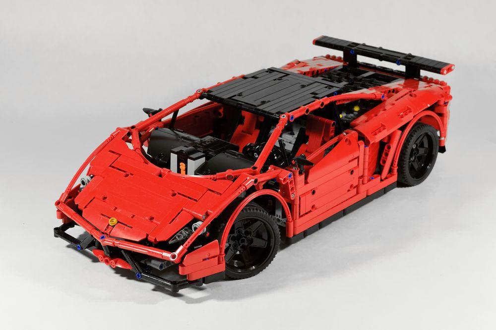 Lego Moc 3918 Lamborghini Gallardo Super Trofeo Stradale Technic