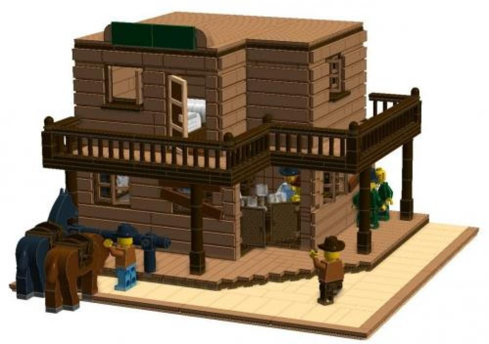 Lego Moc Wild West Saloon And Hotel By Gryffindorcommonroom Rebrickable Build With Lego