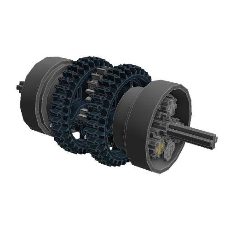 LEGO MOC-3987 Custom spur-gear differential (Technic 2015