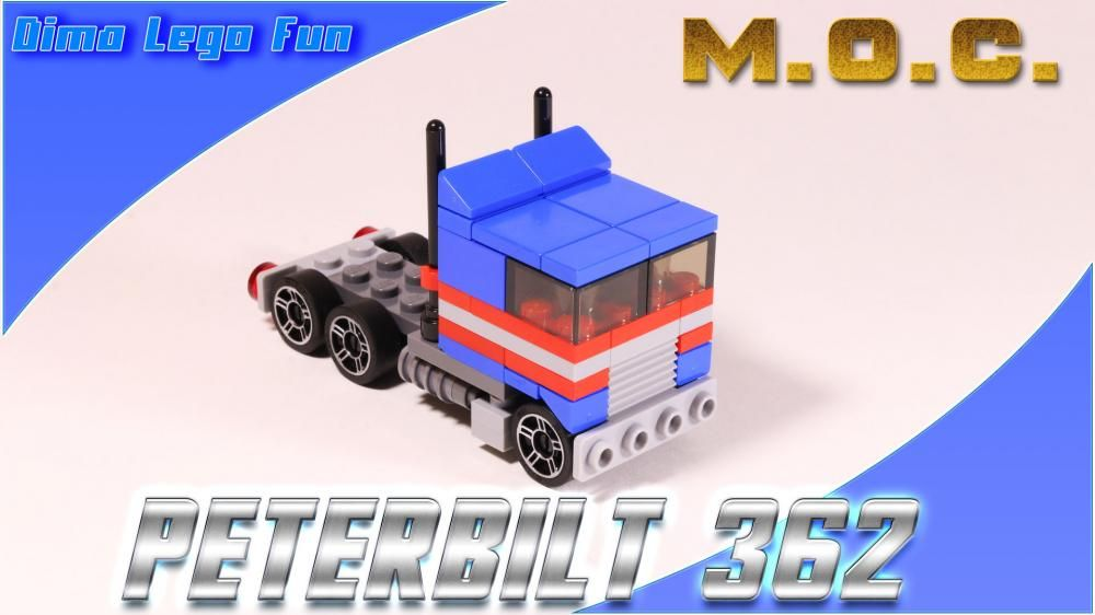 LEGO MOC-4049 Peterbilt 362/Mack Cruiseliner 1975 (Creator