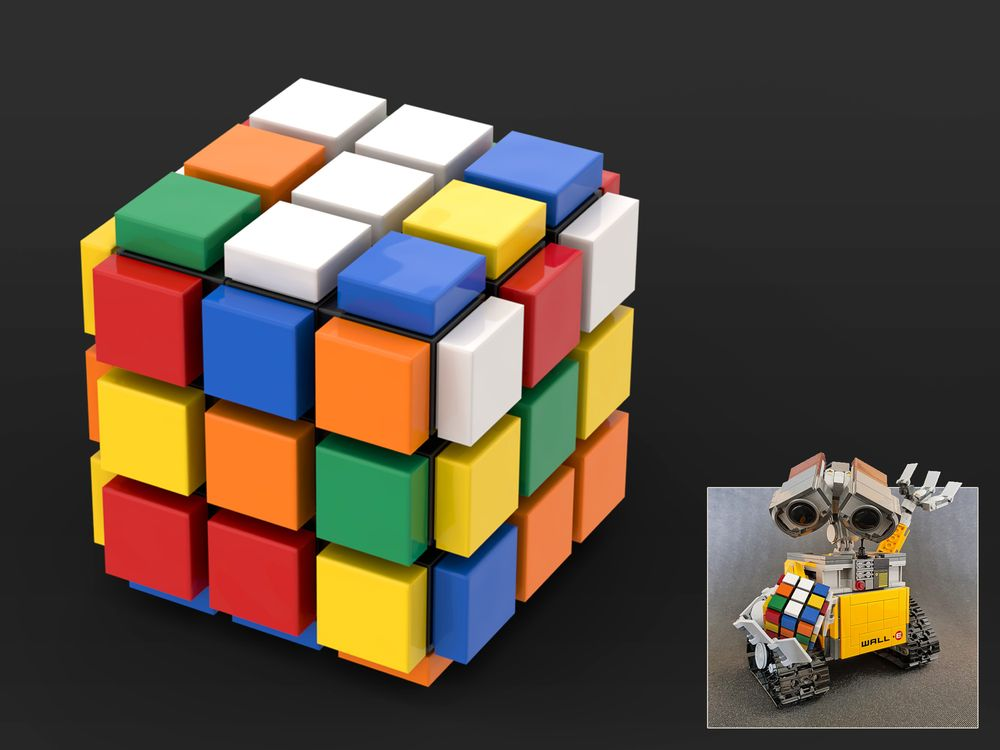 Lego Moc 21303 Wall E Rubick S Cube By Jbarchietto Rebrickable Build With Lego