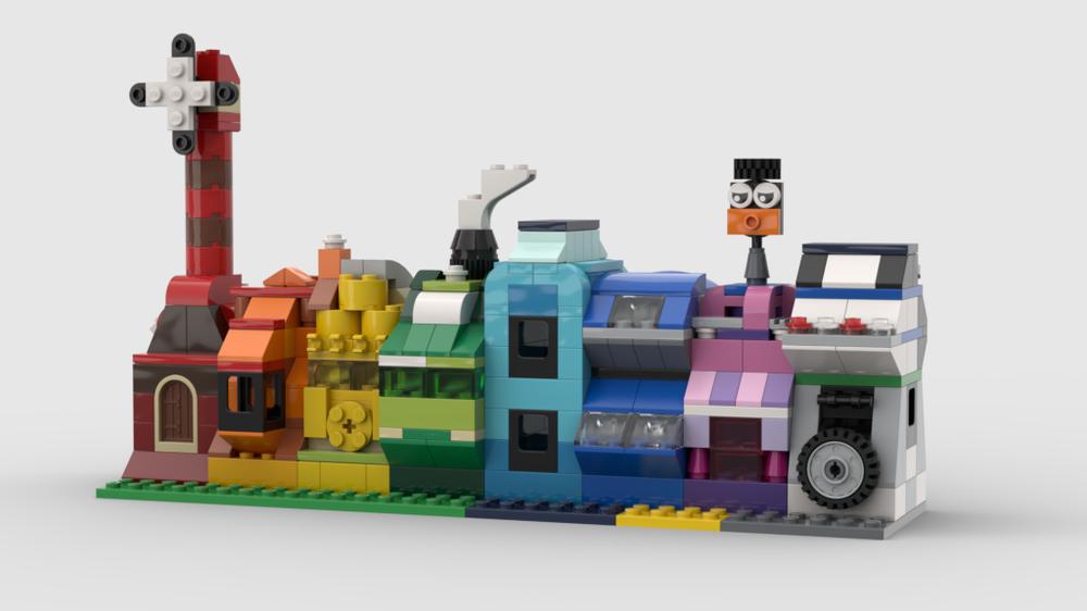 Lego Moc 10696 Rainbow Houses By Lenarex Rebrickable Build With Lego