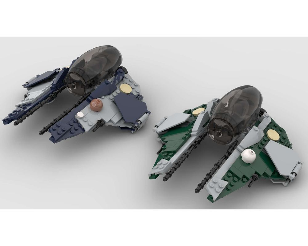 Lego Moc Jedi Interceptor Anakin And Obi Wan Rots Fall Of The Republic Versions By Fenson Rebrickable Build With Lego